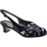 Ros Hommerson Women's Pearl Slingback Black Lizard Print Leather