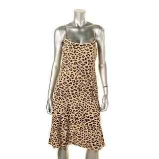 Equipment Womens Slip Dress Silk Animal Print - L