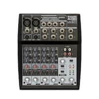 Acoustic Audio MX802 Mixer 8 Channel 2-Bus Premium Pro Audio Mixing Console
