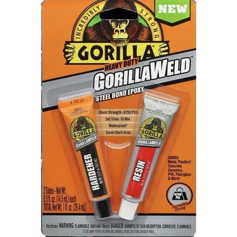 Gorilla 4330101 Heavy Duty GorillaWeld Steel Bond Epoxy, 2-Part