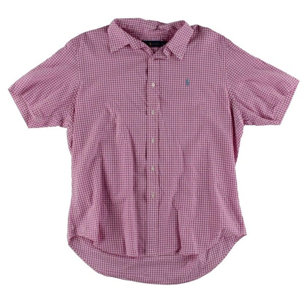 0fd86d971 Shop Polo Ralph Lauren Mens Button-Down Shirt Checkered Short Sleeve - XL -  Free Shipping Today - Overstock - 19398985