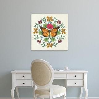 Easy Art Prints Wild Apple Portfolio's 'Butterfly Mandala I' Premium Canvas Art