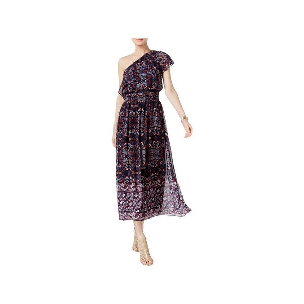 Vince Camuto Womens Maxi Dress Floral Ruffled