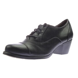 Natural Soul Womens Kelee Faux Leather Toe Cap Oxford Heels - 5.5 medium (b,m)