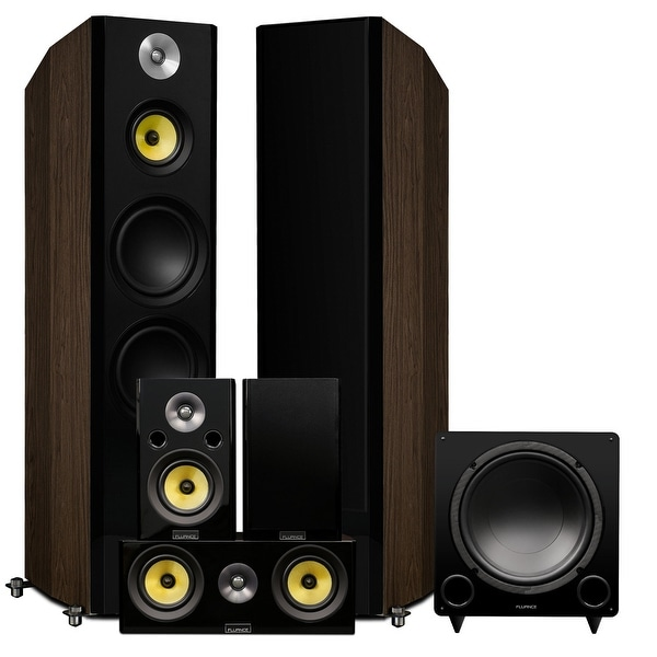 Fluance Signature Series Surround Sound Home Theater 5.1 Channel System - Walnut (HF51WR)