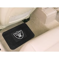 Oakland Raiders Car Mat Heavy Duty Vinyl Rear Seat