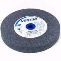 """Norton Gemini Bench and Pedestal Grinding Wheel, Type 01, Round Hole, Aluminum Oxide, Coarse Grit, 1"""" Thickness x 8"""" Diameter"""