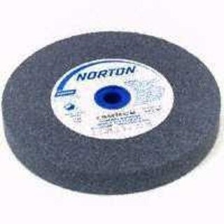 "Norton Gemini Bench and Pedestal Grinding Wheel, Type 01, Round Hole, Aluminum Oxide, Fine Grit, 1"" Thickness x 8"" Diameter"