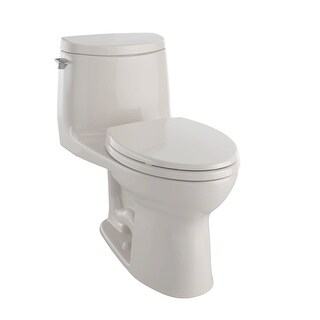 Toto MS604114CUFG  Ultramax II One Piece Elongated 1.0 GPF Toilet with Double Cyclone Flush System and CeFiONtect - SoftClose