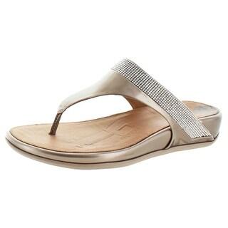 FitFlop Women's Banda Micro Crystal Toe Post Sandals
