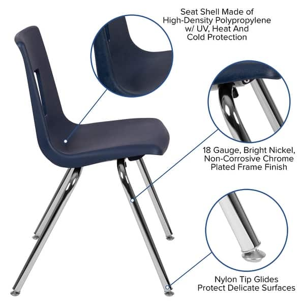 Student Stack Chair 18 H Seat Classroom Chair For Middle High Adults On Sale Overstock 30595418