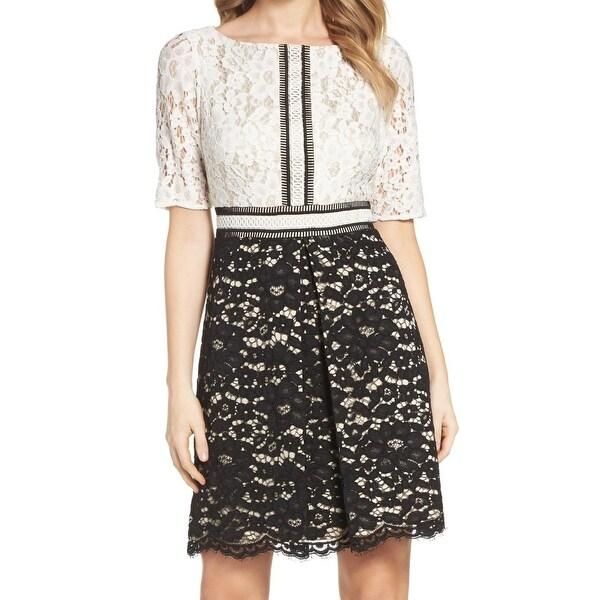 849c8788 Shop Vince Camuto Black Women's Size 6 Lace Contrast Sheath Dress ...