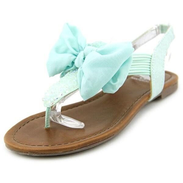 Material Girl Swan Open Toe Canvas Thong Sandal