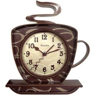 Westclox 3D Coffee Mug Kitchen Wall Clock, 10.25X8.75 Inches