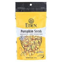 Eden Foods Organic Pumpkin Seeds - Dry Roasted - Case of 15 - 4 oz.