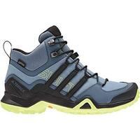 adidas Women's Terrex Swift R2 Mid GORE-TEX Hiking Shoe Raw Grey/Black/Semi Frozen Yellow