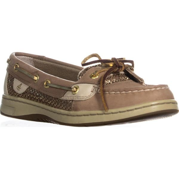 Shop Sperry Top Sider Angelfish Boat Shoes Linen Gold