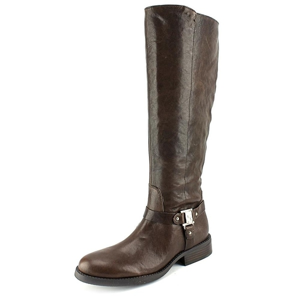 Vince Camuto Farren Women Round Toe Leather Brown Knee High Boot