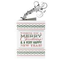 Endless Singing Joke Novelty Christmas Card - Music Won't Stop - MultiColor