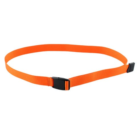 Unisex Outdoor Exercise Nylon Adjustable Canvas Web Waist Belt Orange