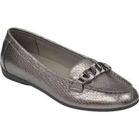 Easy Spirit Women's Antiria Flat Silver Leather