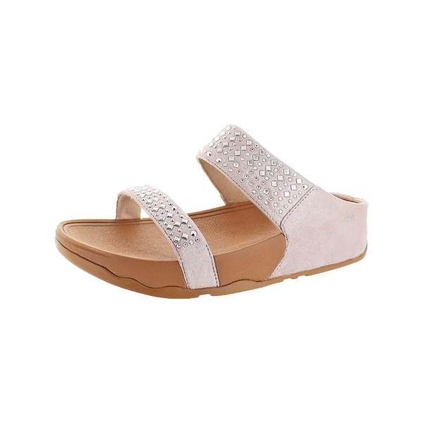 73add8c05 Shop Fitflop Womens Novy Slide Sandals Suede Microwobbleboard - Free ...
