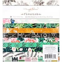 """Crate Paper Single-Sided Paper Pad 6""""X6"""" 36/Pkg-Maggie Holmes Flourish"""