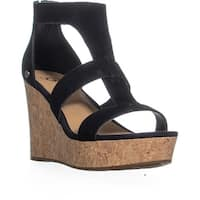 UGG Australia Whitney Platform Wedge Zip Up Sandals, Black