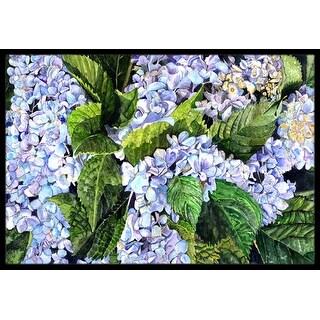 Carolines Treasures 8730JMAT Hydrangea Indoor Or Outdoor Doormat, 24 x 36 in.