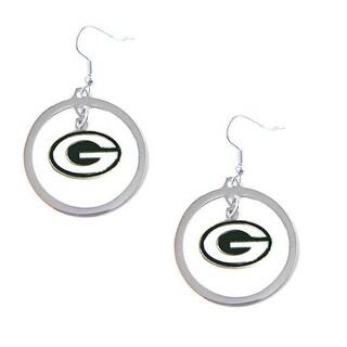 Green Bay Packers Hoop Logo Earring Set Charm Gift - NFL