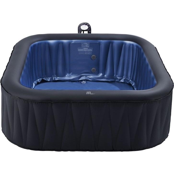 Mspa Delight Tekapo Hot Tub 6 Person Inflatable Bubble Spa 73 W X 73 L X 27 H Overstock 21173826