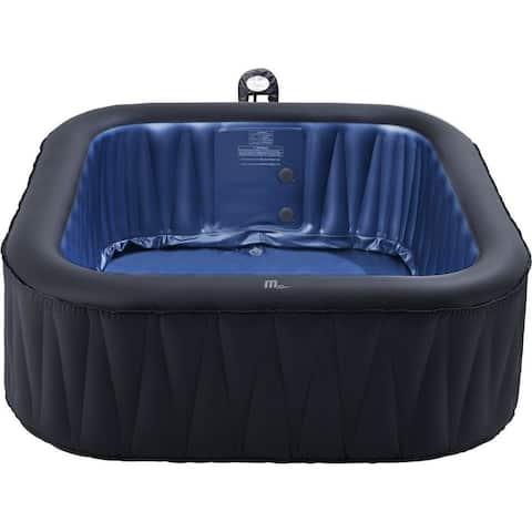 "MSpa Delight Tekapo Hot Tub, 6 Person Inflatable Bubble Spa 73""W x 73""L x 27""H"