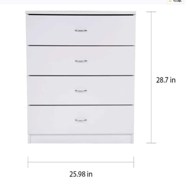 Modern 4-drawer Wood Storage Chest Nightstand