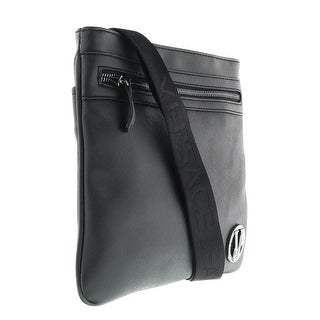 Versace EE1YOBB44 E899 Black Mens  Messenger Bag