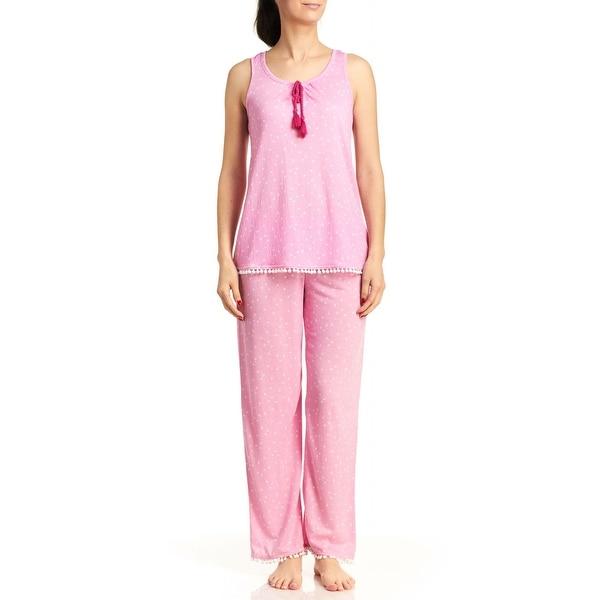 PJ Couture Women's Free Spirit Tank/Pants PJ Set - Pink