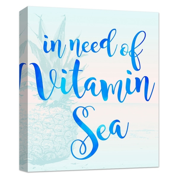 """PTM Images 9-124826 PTM Canvas Collection 10"""" x 8"""" - """"Vitamins Please"""" Giclee Sea Art Print on Canvas"""