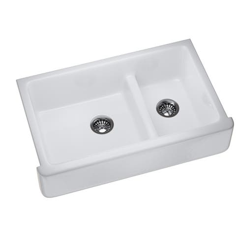 K-6427-0 Enameled Cast Iron Farmhouse/Apron Kitchen Sink