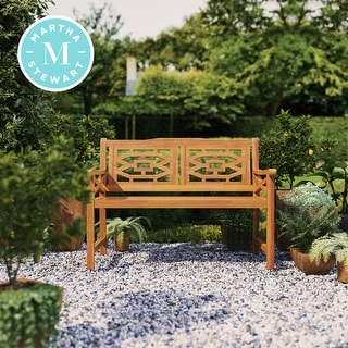 Link to Martha Stewart Beeches 48 in. Bench with Natural Wood Look Finish Similar Items in Patio Furniture