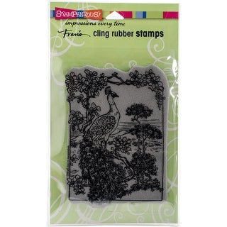 "Stampendous Cling Stamp 5.25""X3.75""-Vintage Peacock"