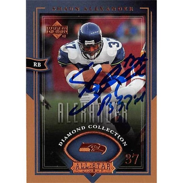 4689bc057ce Shop Shaun Alexander Autographed Football Card Seattle Seahawks 2004 - Free  Shipping On Orders Over $45 - Overstock.com - 26208013