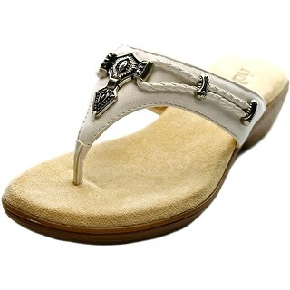 Rialto Kismet Women Open Toe Synthetic White Thong Sandal