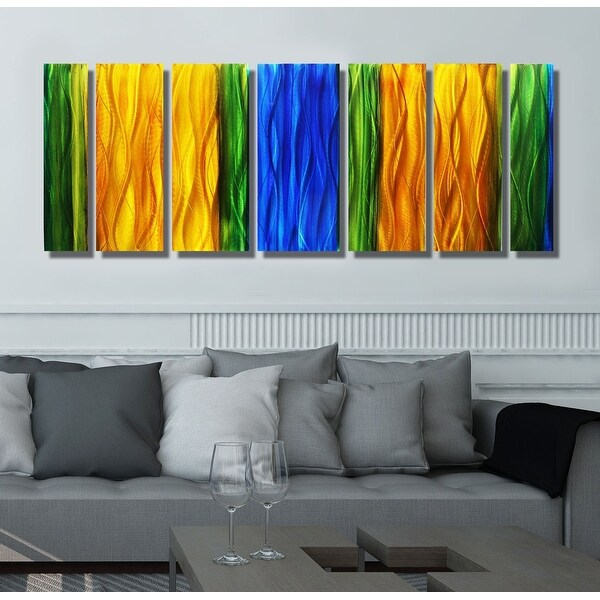 Statements2000 Metal Wall Art Abstract Modern Painting Decor by Jon Allen