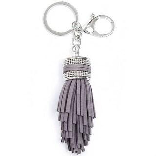 Mad Style Grey Glitzy Tassel Keychain