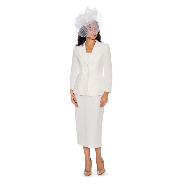 Giovanna Signature Women's 2-pc Linen Skirt Suit. Opens flyout.