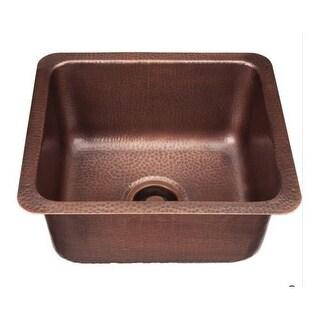 """Signature Copper BDC-171508 Prato 17"""" Single Basin Drop In / Undermount Copper Bar Sink"""