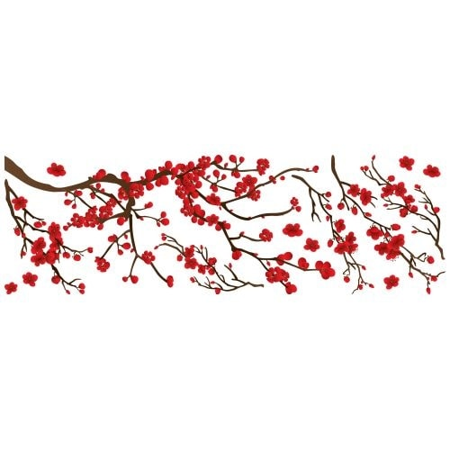 Brewster CR-58105 Red Branch Wall Decal - N/A
