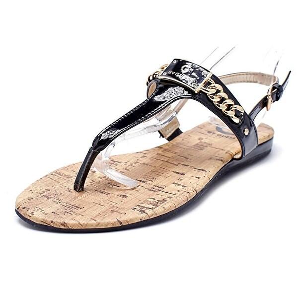 6c4d4e3c8be Shop G By Guess Jossy Women Open-Toe Patent Leather Black Slingback ...
