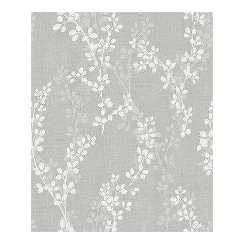 Twig Grey Botanical Wallpaper - 20.5 x 396 x 0.025