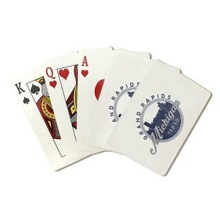 Grand Rapids MI - Skyline Seal (Blue) - LP Artwork (Poker Playing Cards Deck)