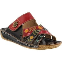 L'Artiste by Spring Step Women's Leigh Slide Black Multi Leather